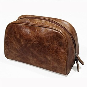 HALO BELINDA TOILET BAG - VINTAGE CIGAR