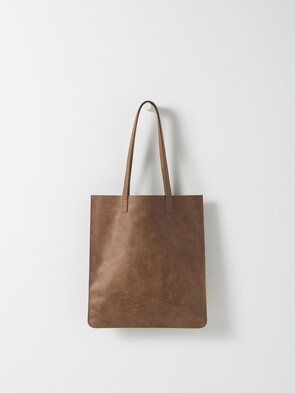 CITTA LEATHER TOTE BAG TAN