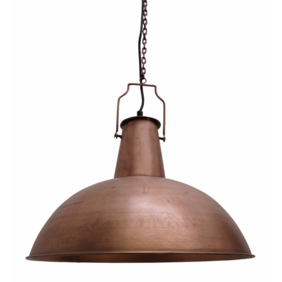 INDUSTRIAL BOILER ROOM PENDANT IN ANTIQUE STYLE FINISH