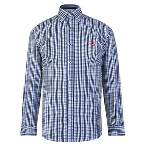HURLINGHAM TATTERSAL CHECK BUTTON DOWN