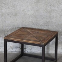 PARQUET INLAY SIDE TABLE