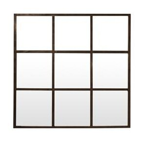 SCUNTHORPE SQUARE IRON GRID MIRROR