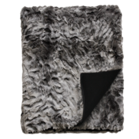 LUXURY FAUX FUR THROW - PEWTER CHINCHILLA