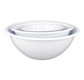 DISHY ENAMEL 3 MIXING BOWL SET WHITE