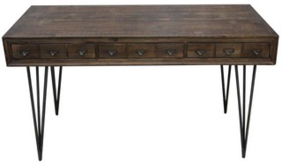 CONSETT PHARMACY RECLAIMED FIR DESK - 3 DRAWERS