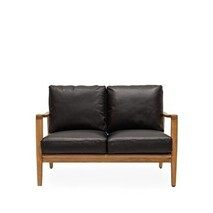BUCKLE 2 SEATER SOFA - BLACK