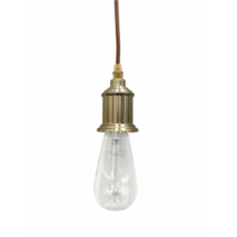 INDUSTRIAL BRASS SINGLE LIGHT FITTING