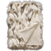 LUXURY FAUX FUR THROW - SNOWSHOE HARE