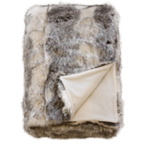 LUXURY FAUX FUR THROW - MOUNTAIN WOLF