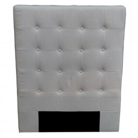 BUTTONED NATURAL LINEN HEAD BOARD KING SINGLE