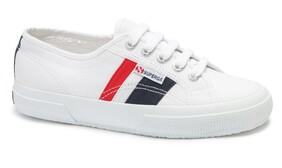 SUPERGA FLAGSIDE - WHITE BLUE & RED