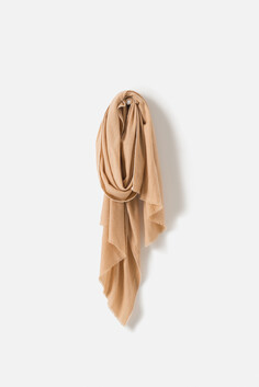 WOOL CASHMERE BLEND SCARF - OAT