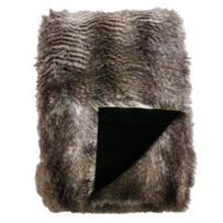 LUXURY FAUX FUR THROW - GOLDEN PHEASANT