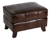 TRADITIONAL STYLE VINTAGE CIGAR OTTOMAN