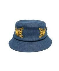 ORANGE TIGER BUCKET HAT - DENIM BLUE