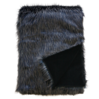 LUXURY FAUX FUR THROW - DARK PHEASANT