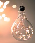 STELLAR HAUS CLEAR LIGHT BULB HANGING GLASS LIGHT
