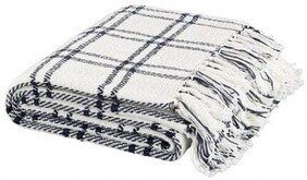 ARTWOOD CHECK LODGE NAVY THROW