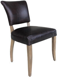 HALO MIMI DINING CHAIR - BIKER DARK BROWN