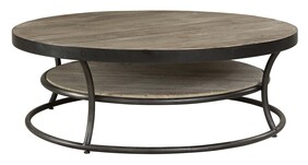 ARTWOOD EAST ROUND COFFEE TABLE - ELM & IRON