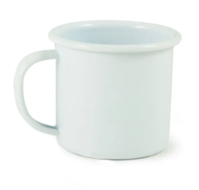 DISHY ENAMEL MUG ESPRESSO WHITE