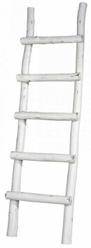 ARTWOOD RUSTIC LADDER - WHITE