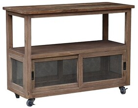 ELM AND MESH WIRE CONSOLE