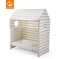 HOME BED TENT - BEIGE STRIPE