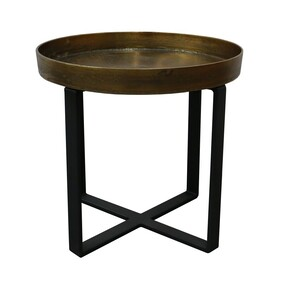 BOSTON SIDE TABLE - BRASS ANTIQUE