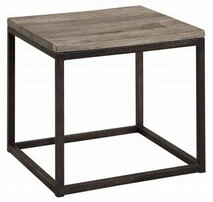 ARTWOOD ELMWOOD SIDE TABLE - ELM & IRON