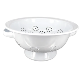 DISHY ENAMEL COLANDER 24CM WHITE