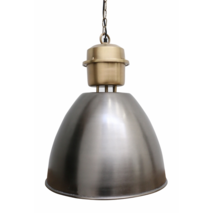 INDUSTRIAL BRASS & PEWTER STYLE HANGING LAMP