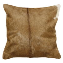 LARAMIE CUSHION BROWN & WHITE