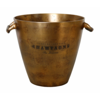 WINE BUCKET IN ANTIQUE BRASS FINISH