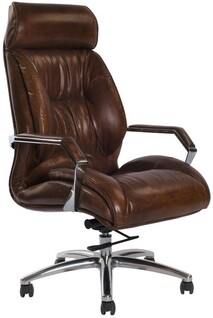 KNARESBOROUGH ADJUSTABLE DESK CHAIR - VINTAGE CIGAR BROWN
