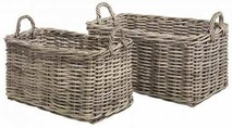 ARTWOOD RECTANGLE BASKETS - TWO SIZES