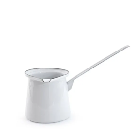 DISHY ENAMEL BUTTER MELTER 7CM WHITE